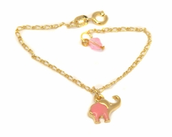 1-0793-D2 Girls Pink Elephant Bracelet