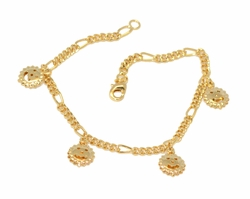 1-0815-D1 Ladies Sun Charms Bracelet