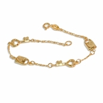 "1-0824-e8 Key and Lock Bracelet. 7.25"" with 7mm charms."