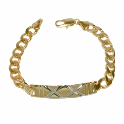 1-0833-e12 Ladies Gold Filled ID Bracelet 7.5""