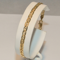 1-0838-e3 Diamond Cut Gucci Link Bracelet 8""