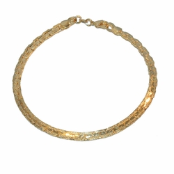"1-0839-e12 Gold Filled 8"" Alternative Link Bracelet"