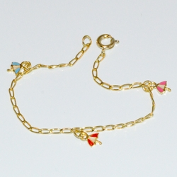 "1-0886-D1 Girls 5.5"" Belerina Charms Bracelet"