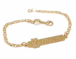 "1-0893-f10 18kt Brazilian Gold Layered ""My Girl"" ID Bracelet. 6"", 5"