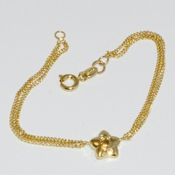 "1-0898-D1 girls 6"" Star Bracelet"