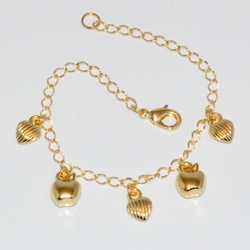 1-0926-D1 Gold Plated Charms Bracelet