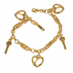 1-0970-D1 *Gold Plated Charms Bracelet