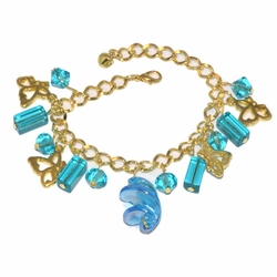 1-0972-D1 *Gold Plated Charms Bracelet