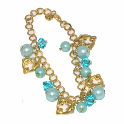 1-0973-D1 *Gold Plated Charms Bracelet