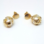 1-1045-f5 Gold Layered Shielded Pearl Eaings