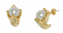 1-1048-D2 Pearl Earrings