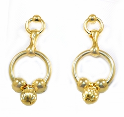 1-1112-D3 Drop Beaded Rings Earrings