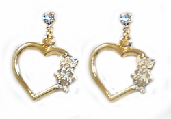 1-1118-D2 My Kids Heart Earrings