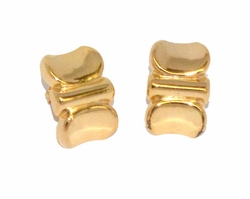1-1139-D1 Ladies Gold Nugget Earrings