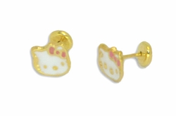 1-1140-D1 Kids Earrings with protective back