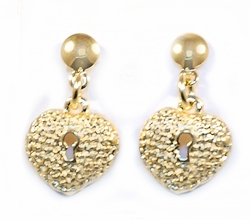 1-1146-D2 Heart Earrings