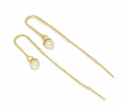 1-1147-D1 Pearl Needle Earrings