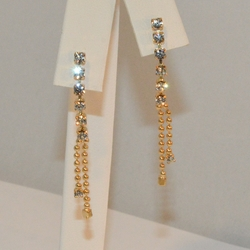 "1-1153-e6 Dangling Crystals Earrings. 1.5"" in length."