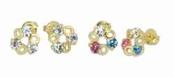 1-1155-D3 Ladies Crystal Stud Earrings