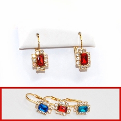 1-1164-D1 Crystal Drop Earrings