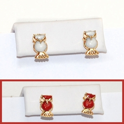 1-1164-D2 Owl Earrings