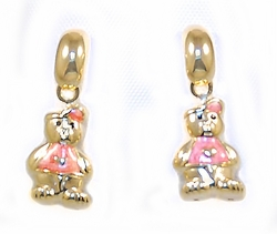 1-1171-D1 Kids Bear Earrings