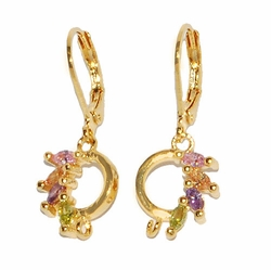 1-1193-D1 Multicolor Drop Earrings
