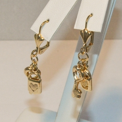 1-1194-e4 Key and Lock Earrings