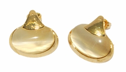 1-1195-D1 Golden Cat Eye Earrings