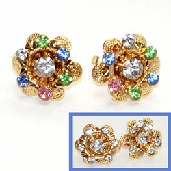 1-1195-D4 Crystal Earrings