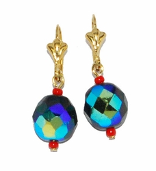 1-1196-D1-ABS Black Iridescent Earrings