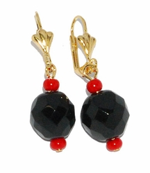 1-1196-D1-AZB Black Azabache Earrings