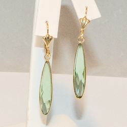 1-1196-e3 Aqua Blue Crystal Drop Earrings