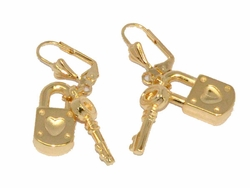 1-1202-D2 Key Lock Earrings
