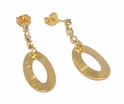 1-1202-D3 Ladies Crystal Earrings
