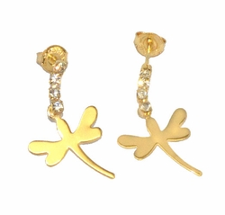 1-1202-D4 Dragonfly Earrings