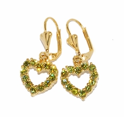 1-1204-D2 Heart Earrings