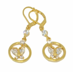 1-1209-D1 Butterfly CZ Earrings