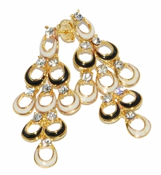 1-1214-D2 Fancy Chandelier Earrings
