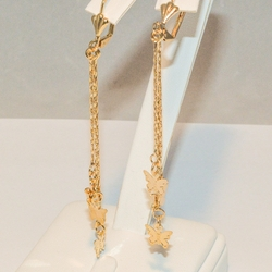 1-1235-e3 Dangling Butterfly Earrings
