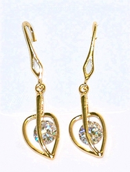 1-1239-D2 CZ Drop Earrings