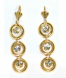 1-1239-D3 Drop Circles Earrings