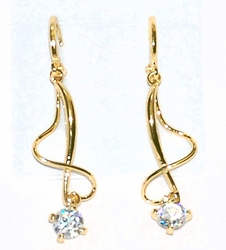 1-1239-D5 CZ Drop Earrings