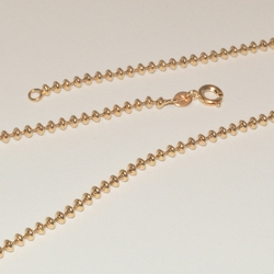 1-1526-e1 Gold Plated Beads Chain