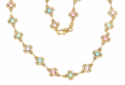 1-1606-D1 Ladies Multicolor Necklace