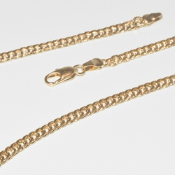 1-1631-e1 Gold Plated Double Curblink Chain