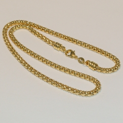 "1-1697-e4 Round Popcorn Necklace 4mm (16""-20"")"