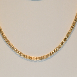 1-1751-e3 Round Mesh Link Necklace 4.25mm