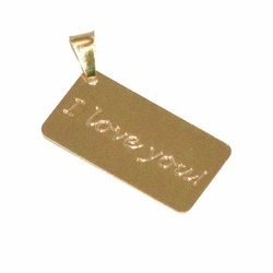 "1-2115-D1 ""I Love You"" ID Plate Pendant"