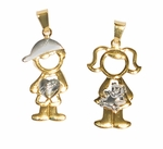 1-2191-D1 My Kids Two Tone Charms